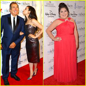 Sofia Carson & Raini Rodriguez Watch Rico Rodriguez Win At Imagen Awards 2015