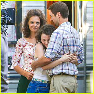 Stefania Owen Hugs Luke Wilson On 'All We Had' Set