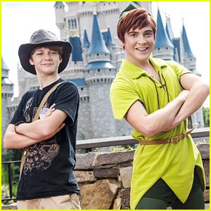 Ty Simpkins Won't Ever Grow Up With Peter Pan at Disney World