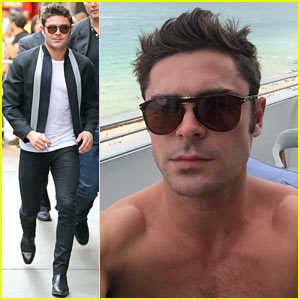 Zac Efron Looks So Hot in This Shirtless Selfie!