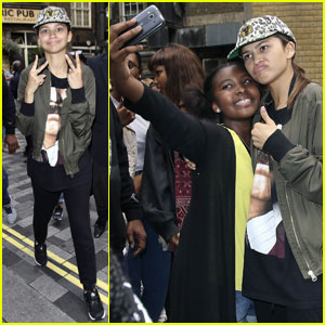Zendaya is All About Her Fans in London!