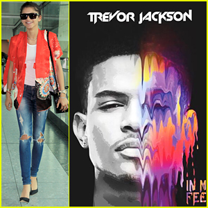 Zendaya Cheers On BFF Trevor Jackson & His New EP 'In My Feelings'