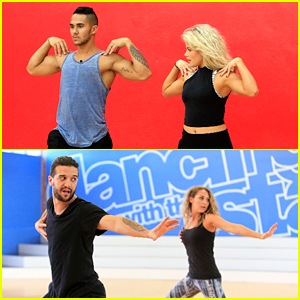 Witney Carson & Mark Ballas Get 'Dancing' With Alexa & Carlos PenaVega In The Studio - See Pics!