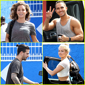 Alexa PenaVega Brings Mark Ballas A Scrunchie For 'Dancing With The Stars' Practice
