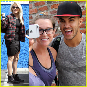 Carlos PenaVega & Alexa Sing Andy Grammer's 'Good To Be Alive' On Their Way To 'DWTS' Practice
