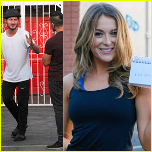 Alexa PenaVega Buys Ice Cream For All The Fans At The DWTS Studio