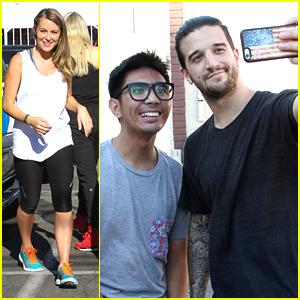 Alexa PenaVega & Mark Ballas Meet With Fans After DWTS Practice