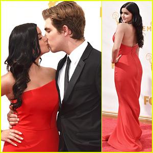Ariel Winter Kisses Boyfriend Laurent Gaudette at Emmy Awards 2015