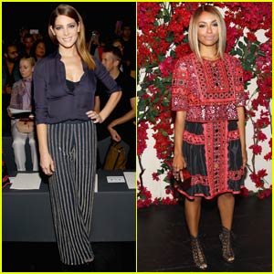 Ashley Greene Sits Front Row at NYFW Show With Kat Graham