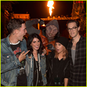 Ashley Tisdale & 5 Seconds of Summer Get Quite the Fright at Halloween Horror Nights!