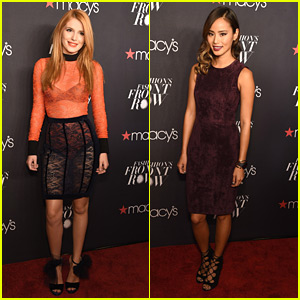 Bella Thorne & Jamie Chung Hit Up Macy's Fashion Front Row With Jason Derulo