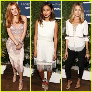 Bella Thorne Runs Into Jamie Chung at NYFW Party