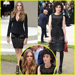 Cara Delevigne Sits Front Row at Burberry With Girlfriend St. Vincent!