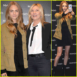 Cara Delevingne Joins Kate Moss For Mango Store Appearance in Milan