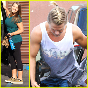 Derek Hough Wears His Hair In A French Braid For 'DWTS' Practice