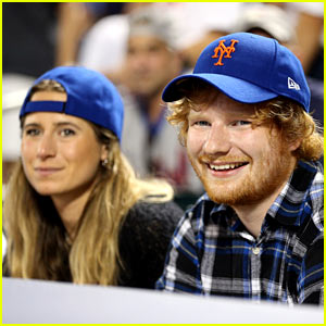 Ed Sheeran & Childhood Pal Cherry Seaborn Catch a Mets Game
