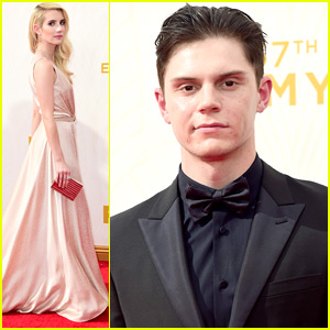 Emma Roberts Is The 'Queen' Of The Emmy Awards with Evan Peters