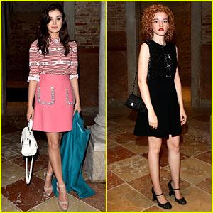 Hailee Steinfeld & Julia Garner Bring Chic Style to Miu Miu's Venice Dinner!