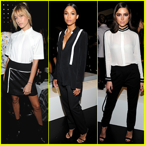 Hailey Baldwin & Olivia Culpo Hit Up Public School's NYFW Show!