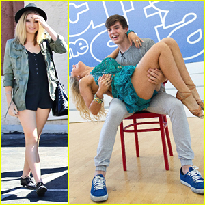 Willow Shields Visits Hayes Grier At 'DWTS' Studio