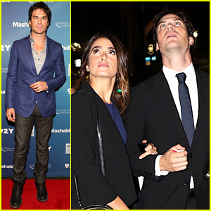 Ian Somerhalder Hosts Event Alongside Wife Nikki Reed