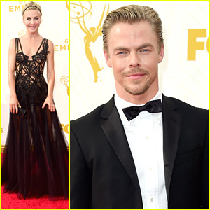 Derek Hough & Sister Julianne Dance Their Way To The Emmy Awards 2015