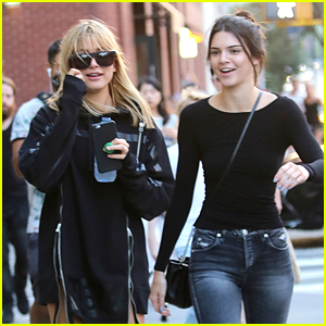 Hailey Baldwin Shows Off New Bangs In NYC With Kendall Jenner