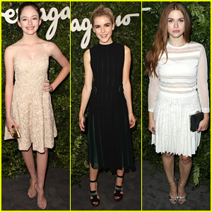 Kiernan Shipka & Mackenzie Foy Celebrate Salvatore Ferragamo In Hollywood