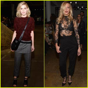 Kiernan Shipka & Katie Cassidy Bring Major Style to NYFW Shows!