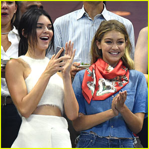 Gigi Hadid & Joe Jonas Catch the U.S. Open with Kendall Jenner!