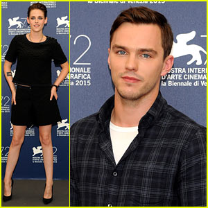 Kristen Stewart Poses for 'Equals' Photo Call with Nicholas Hoult