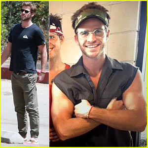 Liam Hemsworth Films a Fun Skit for 'Independence Day 2'