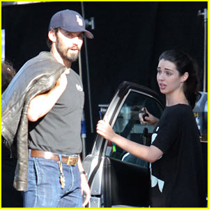Adelaide Kane Grabs Lunch with Milo Ventimiglia