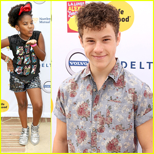 Nolan Gould & Trinitee Stokes Step Out For 'LA Loves Alex's Lemonade' Event
