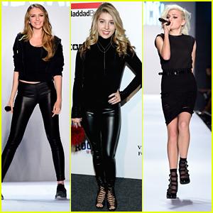 Olivia Somerlyn & Kaya Stewart Perform at Kids Rock! Fashion Show During NYFW