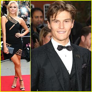 Pixie Lott & Oliver Cheshire Couple Up For GQ Men Of The Year Awards 2015