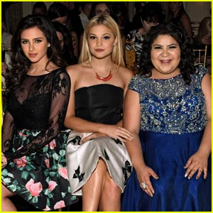 Ryan Newman, Olivia Holt, & Raini Rodriguez Team Up for 'Sherri Hill' NYFW Show!
