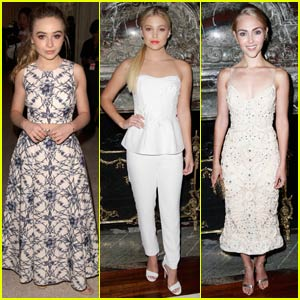 Sabrina Carpenter & Olivia Holt Buddy Up for Marchesa Show at NYFW