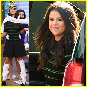 Selena Gomez Gets Wrapped Up Like A Mummy On 'Despierta America'