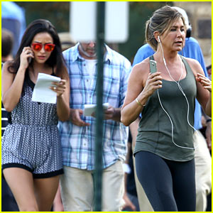 Shay Mitchell Films a 'Mother's Day' Scene with Jennifer Aniston!