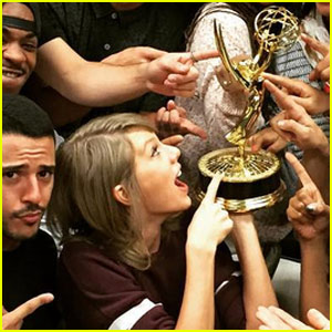 Taylor Swift & Her Crew Have an Adorable Emmy Photo Shoot