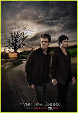 Stefan & Damon Leave Mystic Falls in Brand New 'Vampire Diaries' Poster!