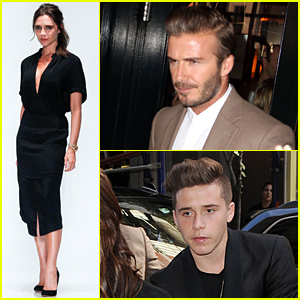 Brooklyn Beckham Attends His Mom Victoria's NYFW Show!
