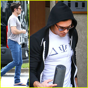 Zac Efron Spotted on 'Neighbors 2' Set with Dave Franco!
