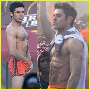 Zac Efron Goes Shirtless & Looks Incredibly Ripped for 'Neighbors 2'