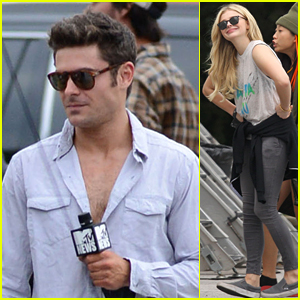 Chloe Moretz Goofs Off While Filming 'Neighbors 2' on Set with Zac Efron