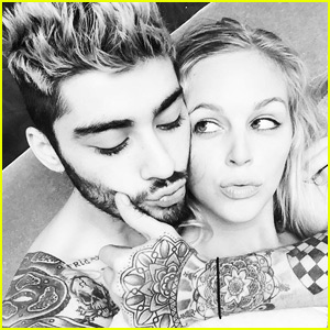 Zayn Malik Cuddles Up to Mystery Blonde While Shirtless!