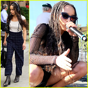 Zoe Kravitz Heads Back To NYC After Playing Made In America Festival