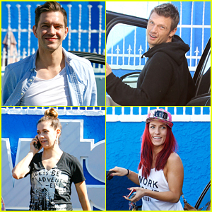 Andy Grammer & Nick Carter Greet Fans Before Team Dance Practice For DWTS