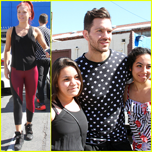 Andy Grammer & Sharna Burgess Meet With Fans Before CHLA Visit